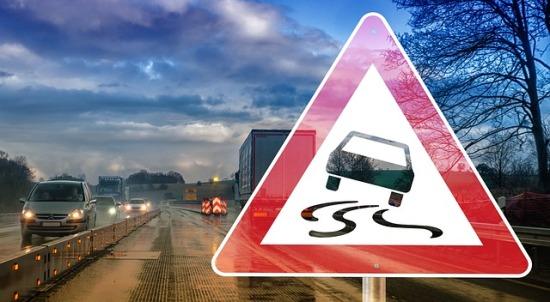 Slippery Road Warning