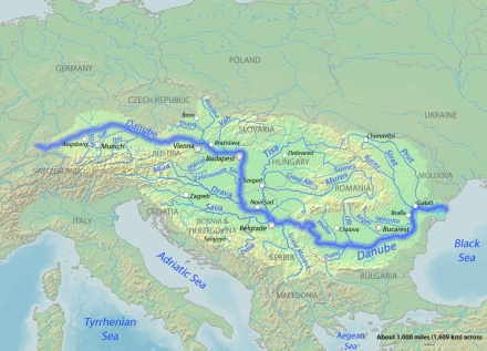 Map of the Danube