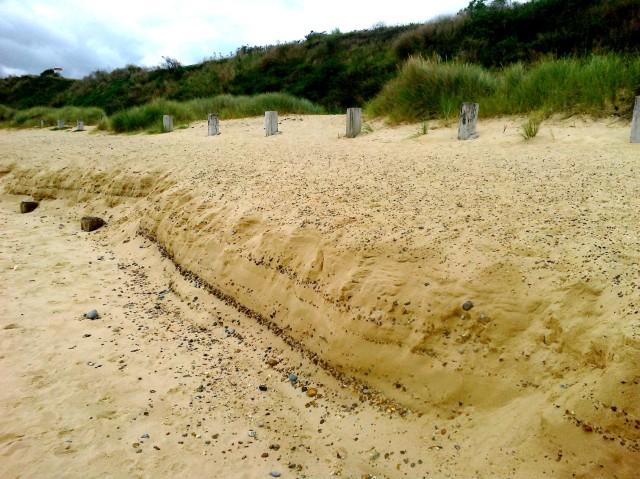 Extreme High Water Mark on Gorleston Beach