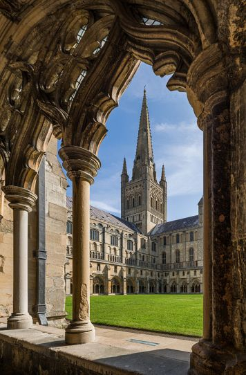 Norwich Cathedral from Cloisters