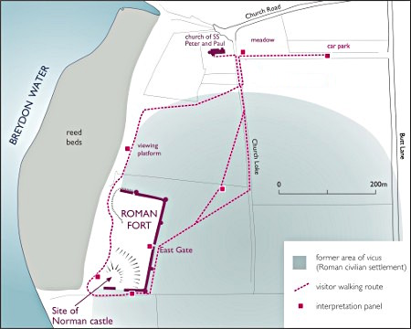 Burgh Castle Diagram