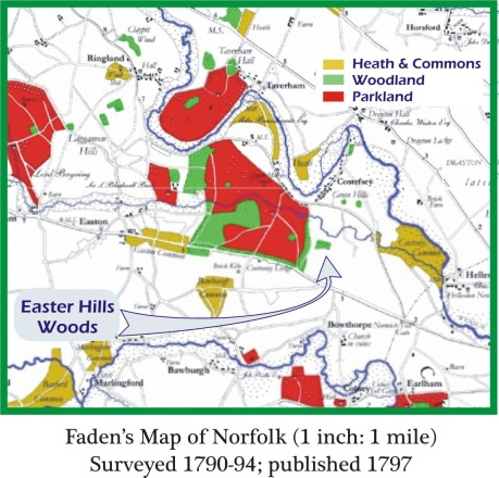 Fadens Map East Hills Costessey