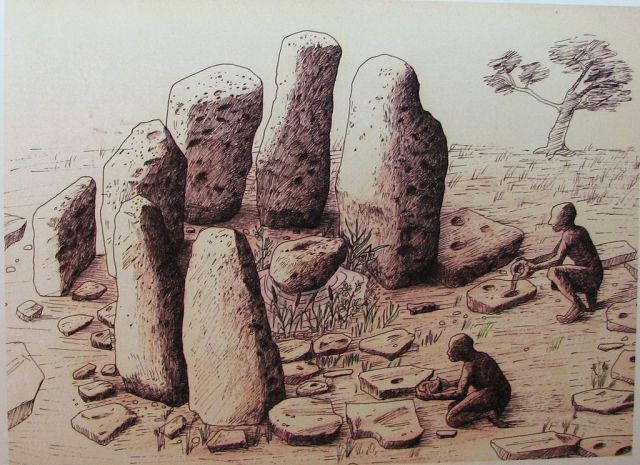 Atlit Yam Ritual setting, artists impression