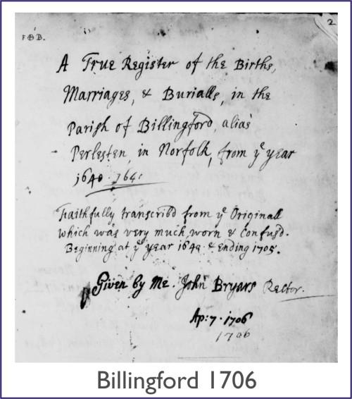 Billingford 1706