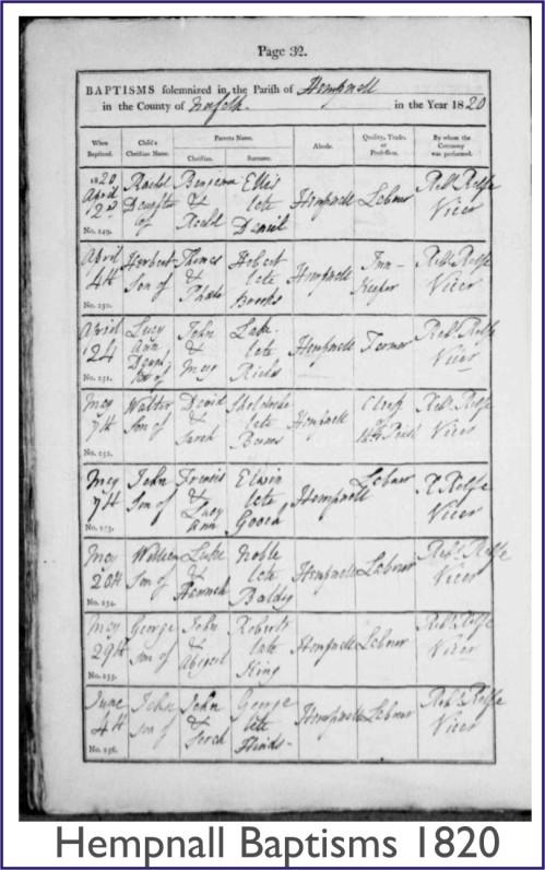 Hempnall 1820