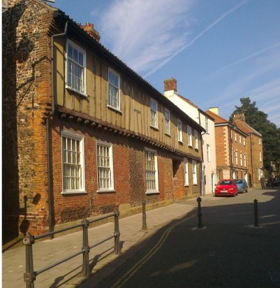 Tudor Vernacular in King Street, Norwich