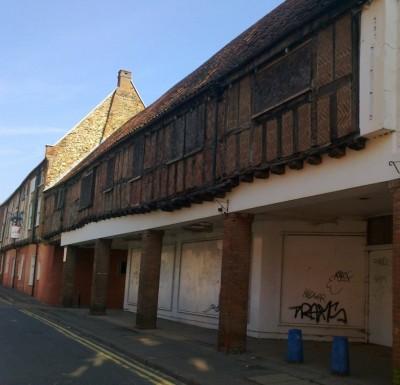 Tudor bricks, recent graffeti