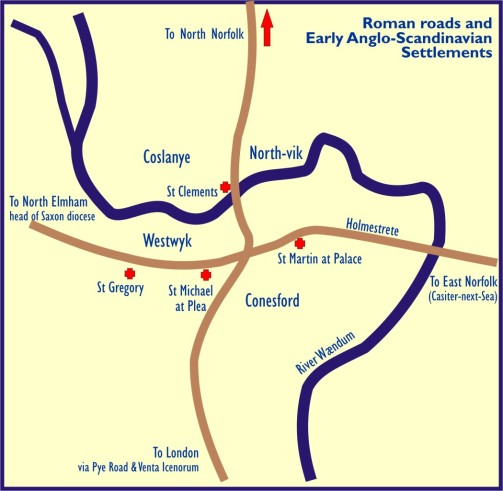 Roman Roads and Early Anglo-Scandinavian Settlements