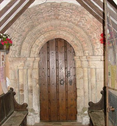 Ashby church door