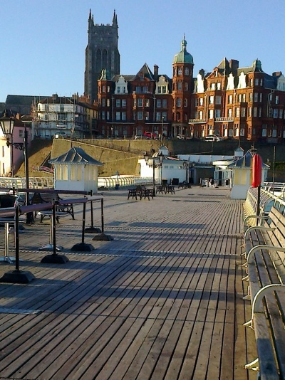 Hotel at the end of the pier