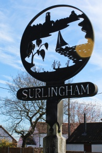 Surlingham village sign