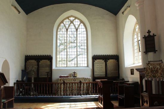 chancel of St Mary's Surlingham