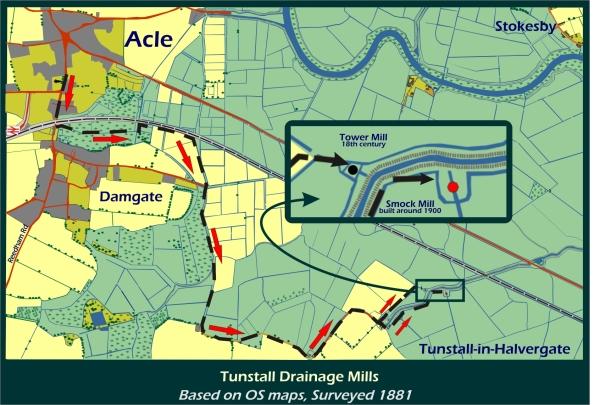 Map: Tunstall in Halvergate