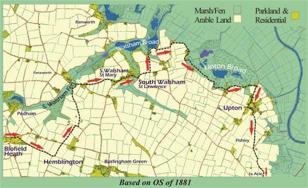 Map 1 Blofield to Uption