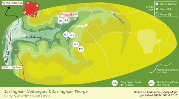 Early and Middle_Saxon_Saxlingham_Map
