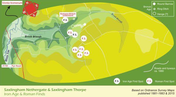 Irone_Age_Roman_Saxlingham_Map