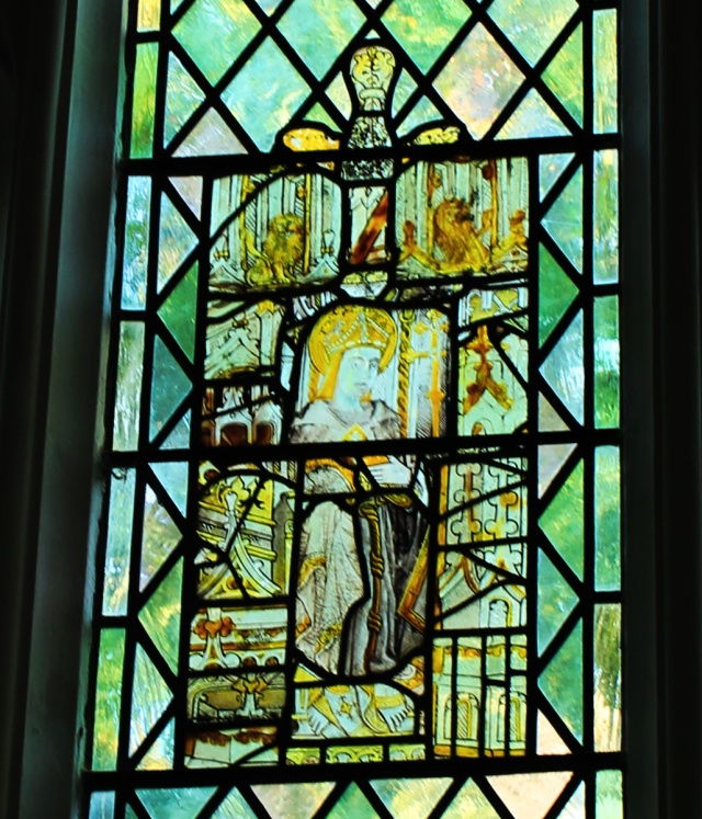 Early glass at Saxlingham church