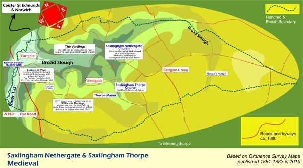 Medieval Saxlingham Map