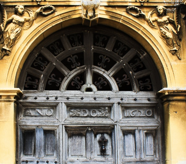 Dated Door at Blickling Hall
