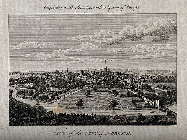 Engraving City of Norwich