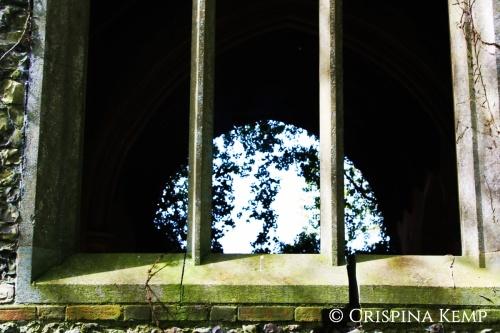 cracked church window