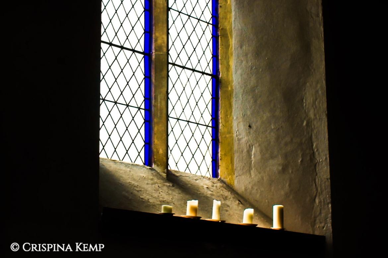 Wacton church window